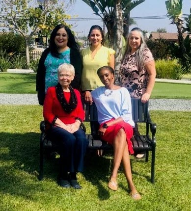 Five CU women posing for Mother's Day photo